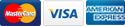 We Accept Visa MasterCard and American Express