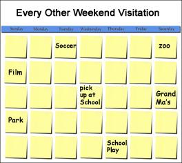 Every Other Weekend Custody Schedule
